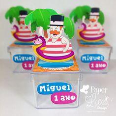 Caixinha Acrílica Mundo Bita 1st Birthday Parties, 2nd Birthday, Baby Party, Holidays And Events, Birthday Candles, Paper, Design, Bernardo, Gabriel