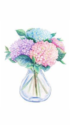 Flower Vases, Flower Art, Pastel Floral, Plant Illustration, Wallpaper Backgrounds, Drawing Wallpaper, Pretty Art, Creative Art, Painting & Drawing