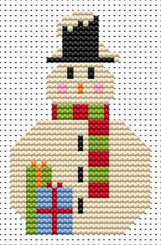 Cosa muñeco de nieve simple kit de punto de cruz