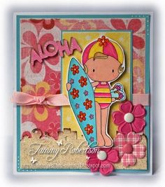 Aloha card using Cricut