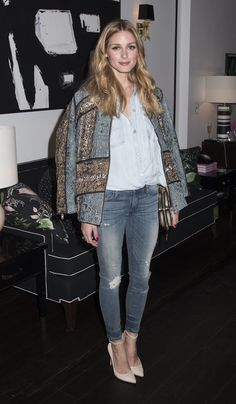 Olivia Palermo Look Vaquero Looks Style, My Style, Estilo Olivia Palermo, Stylish Girl, Winter Outfits, Kimono Top, Street Style, Denim, Clothes