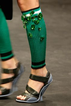 #SPRING2014 READY-TO-WEAR #Prada   The socks have to go but the shoes are fantastic.