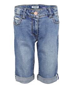 Take a look at this Madison Wash Cuffed Bermuda Shorts - Girls by RUUM on #zulily today!