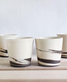 Julia Paul Pottery - Strata cups