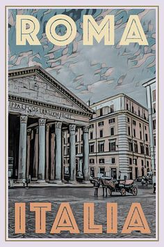 Roma, The Pantheon Photo Wall Collage, Picture Wall, Poster Wall, Poster Prints, Poster City, Life Poster, Vintage Travel Posters, Vintage Ski, Budget Planer