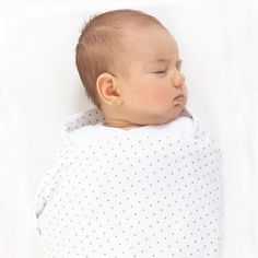 Sweet polka dot Ultimate Swaddle Blanket - cozy cotton flannel by SwaddleDesigns #MadeinUSA #PremiumAmericanCottonFlannel