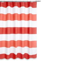 *love it!* Boca Shower Curtain in Coral - BedBathandBeyond.com