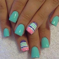 summer 2015 solar nails   Gel Nail Art Designs Ideas Trends Stickers 2015 1 Cute Easter Gel Nail ...