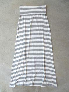 Bayside Stripe Maxi Skirt <3 #stripes