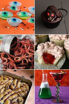 "Creepy Halloween foods for a ""Spooky gross food night!"""