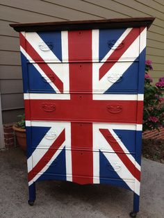 From the blog Weathered Pieces: Union Jack dresser