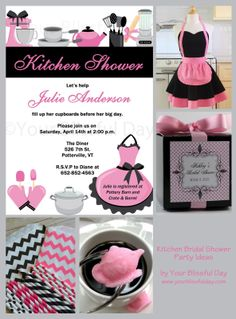 Kitchen Bridal Shower Party Ideas • Your Blissful Day