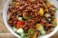 Veggie and bean salad with Guacamole Salad Dressing. #whatveganseat