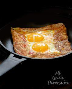 Mi Gran Diversión: Galette Bretonne (Bacon, queso y huevo)