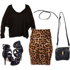 How to wear a leopard print skirt