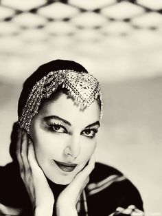 Ava Gardner - want a headdress but which one or what type - bells, metal, feathers, leather?