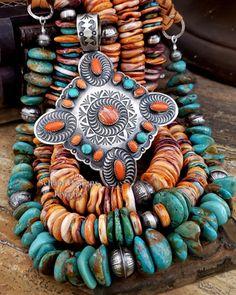 American Indian Jewelry, Southwestern Jewelry, Orange, Turquoise Jewelry, Sterling Silver Jewelry, Jewlery, Arizona, Jewelry Design, Necklaces