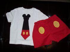Custom Mickey Tie Tee Boy Set 6/9M5T by AutumnRoseBoutique on Etsy, $25.00