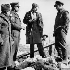 Gellhorn in Italy. More about her role in #DDay here: http://womenheroesofwwii.blogspot.com/2011/06/martha-gellhorn-war-correspondent.html