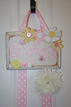 bow holder/Bow Holder/ Baby Girl/Custom Bow by Tweetfeathers, $30.00