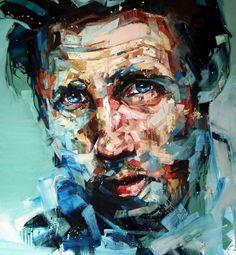 "Andrew Salgado; Oil, 2012, Painting ""The Conversation"""