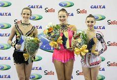 Siegerinnen der Troféu Brasil 2013 in Toledo, Paraná in der Rhythmischen Sportgymnastik