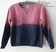 Ladies Sweatshirt  Blue Sweatshirt Women's sweatshirt by Styleon