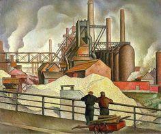 kundst:  Gregory Orloff (US 1890-1981) Gravel Yards (1934)