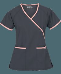 UA Women's Mock Wrap Scrub Top features a solid contrast trim on the wrap line, pockets and sleeves as well as two front patch pockets. Shop for Solid Scrub tops at UA! Spa Uniform, Scrubs Uniform, Buy Scrubs, Scrubs Outfit, Black Scrubs, Womens Scrubs, Medical Scrubs, Scrub Tops, Wearing Black
