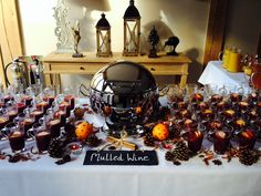 Mulled wine station ready for wedding reception