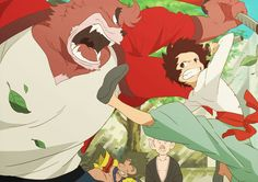 The Boy and the Beast (by コーンぽた子) Manga Anime, Anime Art, Bakemono No Ko, Film D, Ghibli Movies, Anime Films, Animation, I Love Anime, Kawaii Anime