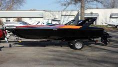 Harley crate motor powered F-15 mini speed boat looks good