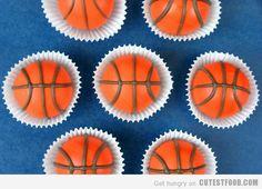 Basketball cake balls or cake pops, perfect for March Madness or basketball fans. Basketball Cake Pops, Basketball Stuff, Basketball Crafts, Basketball Anime, Basketball Hoop, Biscuits, Basketball Birthday Parties, Vegetarian Cake, Cake Bites