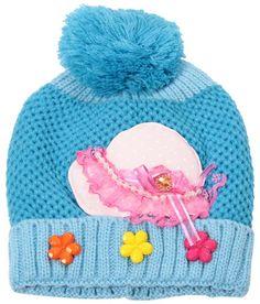 Bizarro Striking Blue Woollen Cap For Kids