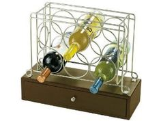 Howard Miller Wine Caddy I by Wine rack holds up to 6 bottles. The felt-lined drawer is ideal for storing bottle openers, stoppers, and other accessories. Wine Furniture, Game Room Furniture, Wine Racks For Sale, Countertop Wine Rack, Wine Rack Bar, Wine Caddy, Howard Miller, Wine Refrigerator, Wine Storage