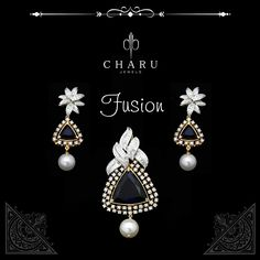 Pendant Set, Diamond Pendant, Diamond Jewelry, Gold Jewelry, Jewelery, Jewelry Art, Jewelry Design, Diamond Necklaces, Jewellery Sketches