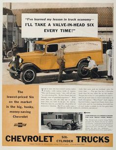 1934 Chevrolet Truck Ad