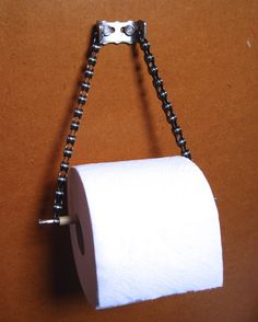Toilet roll holder made from bicycle parts by BrokeandTipple