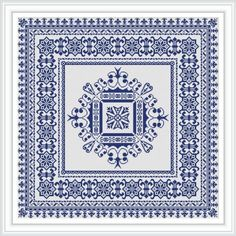 Royal cushion monochrome Cross stitch pattern PDF Instant