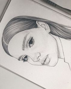 art and drawings Girl Drawing Sketches, Girly Drawings, Art Drawings Sketches Simple, Pencil Art Drawings, Cool Drawings, Arte Sketchbook, Drawing People, Painting & Drawing, Paintings