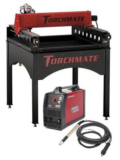 CNC plasma cutter table. Awesome for cutting complex designs in steel. Like a Cricut cutter, for steel