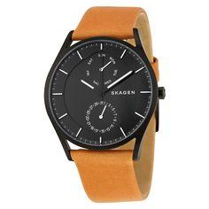 *95*Skagen Holst Black Dial Brown Leather Men's Multifunction Watch SKW6265 - Holst - Skagen - Shop Watches by Brand - Jomashop