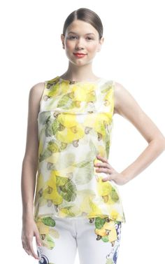 Shop Isolda Cashewfruit Top Duo 3D at Moda Operandi