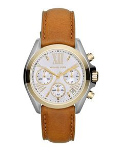 Michael Kors Mid-Size Leather Bradshaw Chronograph Watch. Just wish it wasn't with Roman numerals.