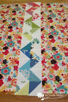 back of quilt by Sarah Meyer | Moda Bakeshop