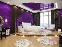 Dream Rooms Purple - Decoration Home Purple Bedroom Design, Purple Bedrooms, Purple Interior, Dream Rooms, Dream Bedroom, Home Bedroom, Bedroom Decor, Master Bedroom, Bedroom Rugs
