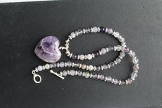 Handmade amethyst and sterling silver necklace by studioSdesign
