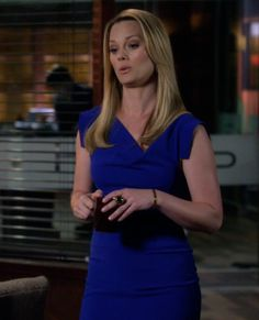 Kim Kaswell's Slim Blue Dress from Drop Dead Diva: Winning Ugly #ShopTheShows #curvio