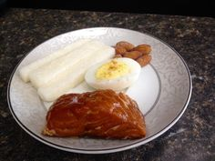 'BE Easy' Everyday Meal – Smoked Salmon with Hard Boiled Egg and Jicama