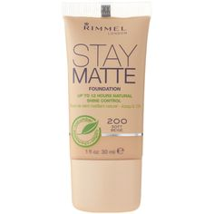 Rimmel London Stay Matte Foundation CAD) ❤ liked on Polyvore featuring beauty products, makeup, face makeup, foundation, beauty, rimmel foundation and ...